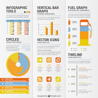 Conjunto de recursos gráficos para infografías