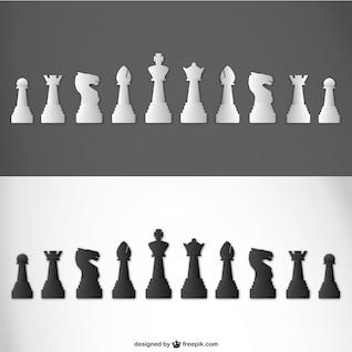 Piezas de ajedrez vector