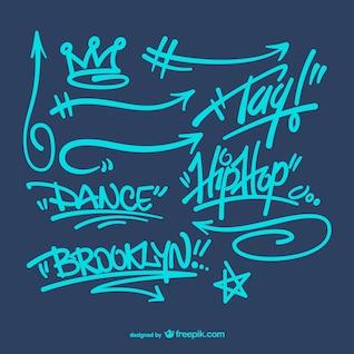 Pack de vectores de graffiti