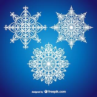 Copos de nieve artísticos para Navidad