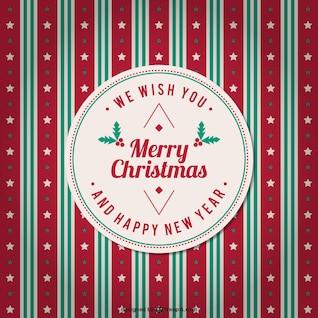 Vector de fondo vintage de feliz Navidad