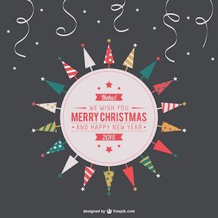 Etiqueta de Feliz Navidad vintage