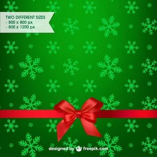 Fondo verde de Navidad