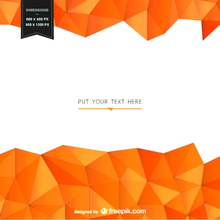 Plantilla de fondo con formas geométricas de color naranja