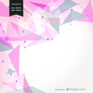 Fondo con formas geométricas rosa