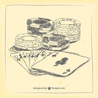 Dibujo de elementos de casino