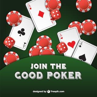 Vector únete al buen póquer