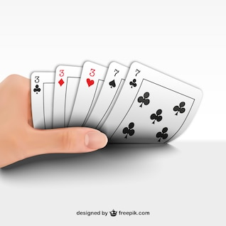 Vector jugando al póquer