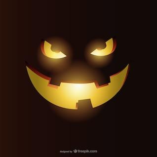 Vector calabaza sonriente de Halloween