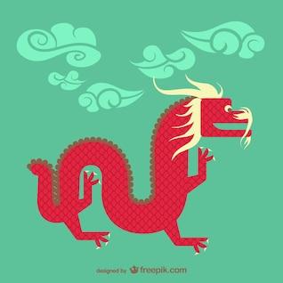 Chino vector dragón