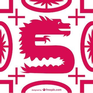 Llano vector dragón