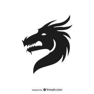 Dragón cabeza la silueta