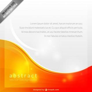 Plantilla de fondo abstracto blanco y naranja