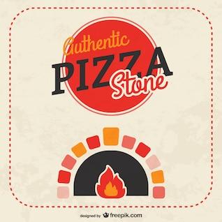 Vector pizza a la piedra