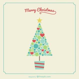 Vintage vector árbol de navidad