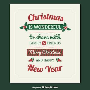 Vector tarjeta de Navidad estilo retro