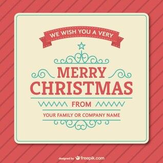 Plantilla de la tarjeta de Navidad de la vendimia