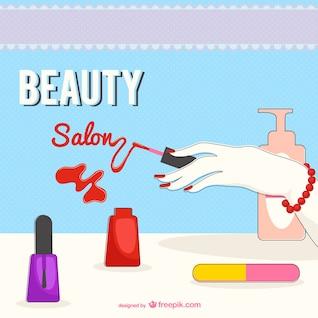 Ilustración de salón de belleza
