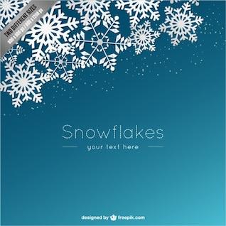 Plantilla de fondo con copos de nieve blanca