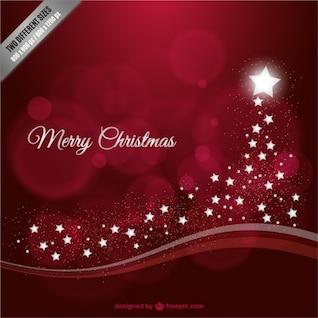 Fondo de Feliz Navidad con estrellas