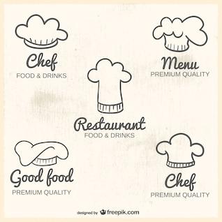 Logos con gorros de cocinero