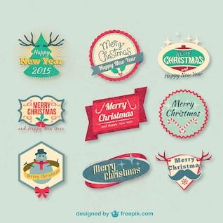 Conjunto de insignias de Navidad