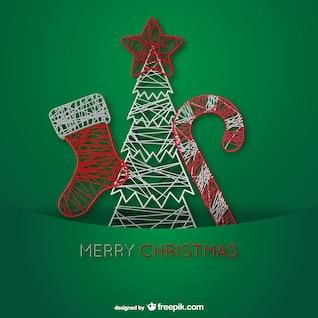 Adornos de alambre de Navidad