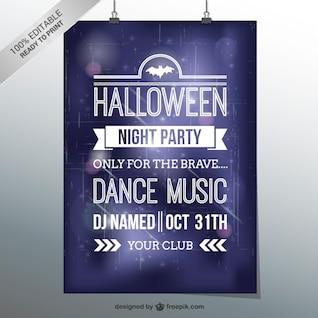 Baile de Halloween plantilla del aviador del partido