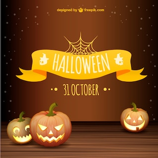 Vector gratis de Halloween con calabazas