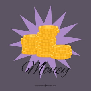 Vector gratuito de monedas de oro