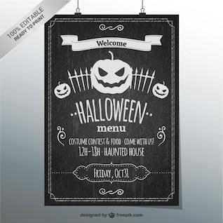 Plantilla de carta de restaurante para Halloween