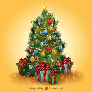 Vector de árbol de Navidad realista