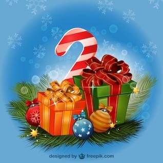 Dibujo de regalos de Navidad