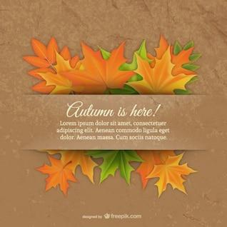 Plantilla con hojas de otoño