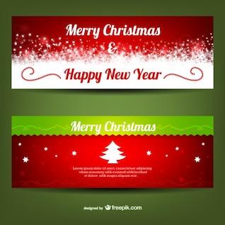 Plantilla de banners de feliz Navidad