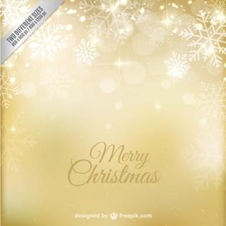 Fondo dorado de feliz Navidad