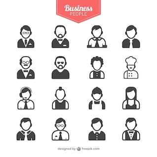 Avatares de gente de negocios