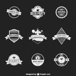 Conjunto de insignias de bebidas