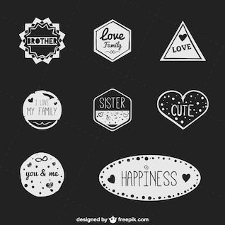 Colección de insignias dibujadas