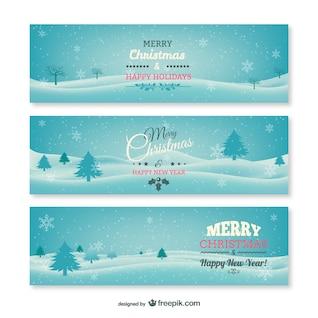 Banners de Navidad vintage