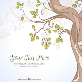 Plantilla vectorial con árbol
