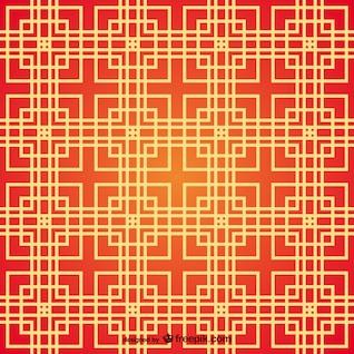 Patrón de cuadrados de estilo de chino