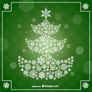 árbol de navidad en fondo verde