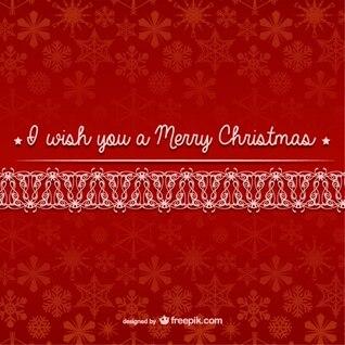 Vector de Feliz Navidad con patrón de copos de nieve