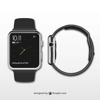 Frontal y lateral de iWatch
