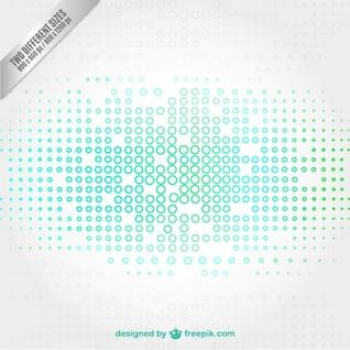 Fondo de tecnología con círculos pequeños