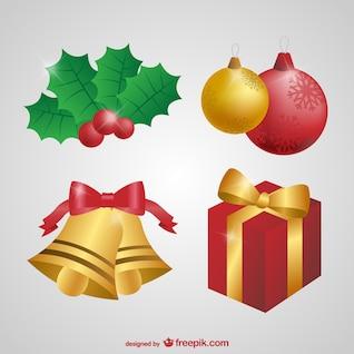 Conjunto de adornos de Navidad