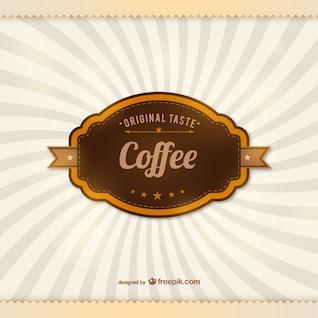 Etiqueta de café vintage