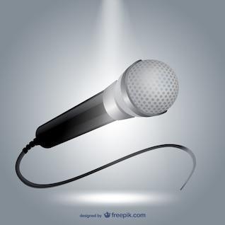 Ilustración vectorial de micrófono