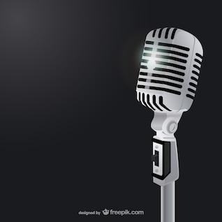 Ilustración vectorial de micrófono clásico